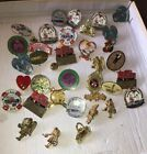 Lot Of  35 Vtg Mason Freemason Shriner El Katif Omar Lady Jewelry Tie Tack Pins