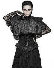 Punk Rave Pyon Lace Cape Shrug Cloak Black Silver Gothic Lolita Steampunk VTG