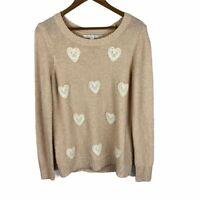 Lauren Conrad Lace Heart Knit Sweater women's size large