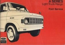 FORD A SERIES LIGHT TRUCK ( PETROL & DIESEL ) ORIGINAL SERVICE RECORD BOOKLET