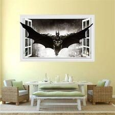 3D Windows Batman Art Vinyl Wall Stickers Decal Mural Kids Room Home Decor