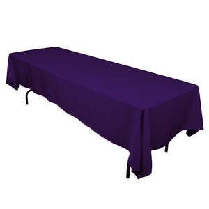 5 packs  60 x 102 Inch RECTANGLE Polyester Tablecloth Hotel Boot 25 COLORS SALE
