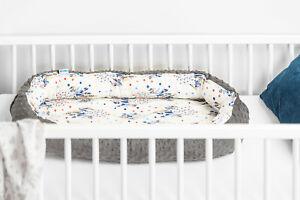 Soft Newborn Baby Cocoon Sleep Nest Cushion Breathable Snuggle Pod Dark Apache