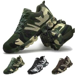 Mens Camouflage Running Athletic Army Sneakers Mesh Hiking Sport Fashion Shoes