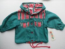 NEW baby summer jacket by designer Zip-Zap 100% cotton green + hood 12-18m