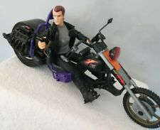 VINTAGE KENNER 1990s TERMINATOR TOY ACTION FIGURE WITH MOTORCYCLE.