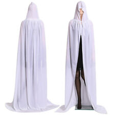 Men Womens Loose Hooded Cape Adult Long Cloak Halloween Costume Dress Coat Maxi