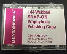 Dentamerica Cups Snap On Web Med Soft 144pk