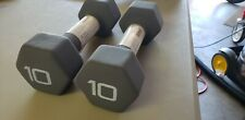 CAP Neoprene Hex Dumbbell 10 Lb Pair  Fast Shipping