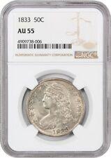 1833 50c NGC AU55 - Nice Type Coin - Bust Half Dollar - Nice Type Coin