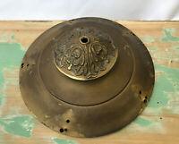 Antique Vtg Brass Hanging Lamp Part Pan for Chandelier Ceiling Fixture Victorian