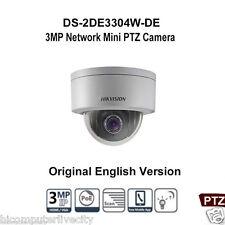 Hikvision DS-2DE3304W-DE 3MP HD Mini PTZ Network Security Camera 4X Zoom POE P2P