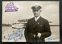 Original Photo Dornier DOX Giant Seaplane Captain 1932