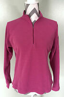 L.L. Bean Womens Fuchsia Pink Lightweight Fleece Sweater Pullover Sz S Small LL