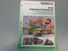 Terex 4066 Articulated Dump Truck Literature