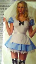 """""""ALICE"""" APRON DRESS, ADULT FEMALE COSTUME SIZE EXTRA SMALL 0-3 BY LEG AVE"""