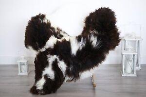 Real Natural English SHEEPSKIN RUG Fur Throw Genuine Sheep Skin Brown #1sheb17