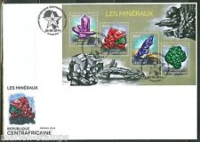 CENTRAL AFRICA 2014 MINERALS  SHEET  FIRST DAY COVER