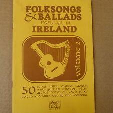 songbook FOLKSONGS & BALLADS popular in IRELAND vol 2