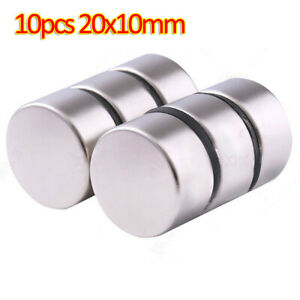 10pcs N35 Neodymium Magnet 20mmx10mm Round Rare Earth Disk Strong Craft Magnet