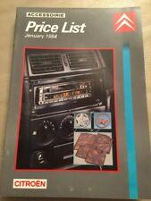 CITROEN Accesorios Coche Lista de precios - 1994 de enero
