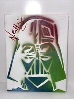 "Darth Vader Abstract Graffiti Art  Star Wars 10""x8"" Pop Art Painting On Canvas."
