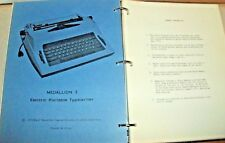 1974 Royal Typewriter Medallion Centurion Electric Portable Schematic Catalog pa