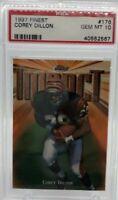 1997 Finest #176 Corey Dillion RC Cincinnati bengals rookie card PSA 10 Gem Mint