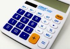 Standard Desktop and Office Calculator, Solar Battery, 12 Digits Display