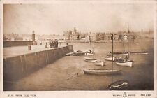 More details for fife elie from elie pier harbour boats early postcard c1910
