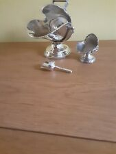 More details for best silver plate sugar scuttle  with scoop and salt scuttle by grenadier