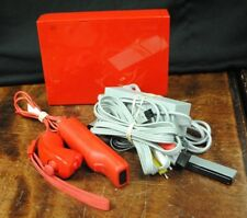 Nintendo Wii RVL-001 Red Console w/ Motion-Plus Remote Gaming System *