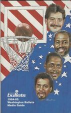 1984-85 WASHINGTON BULLETS MEDIA GUIDE