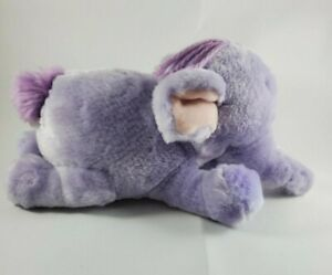 "Purple Heffalump Plush Disney 8"" Inch Winnie the Pooh Stuffed Animal"