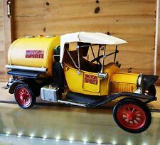 Auto Blechmodell Oldtimer Tankwagen gelb Retro Nostalgie Deko Dekoration NEU