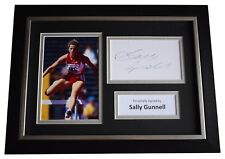 More details for sally gunnell signed a4 framed autograph photo display olympic athletics  coa