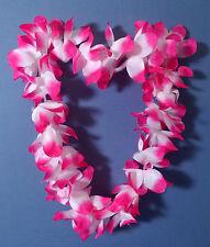 COLLANA HAWAIANA TROPICAL FLOWER ROSA SFUMATA BIANCA Party Festa Animazione