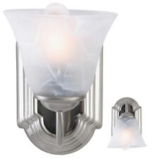 Brushed Nickel Wall Sconce Fixture Single Light Interior Lamp Lighting in Silver