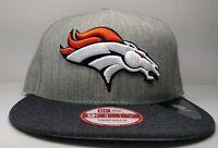 New Era Denver Broncos 9Fifty Heather Action Championship Field Snapback Hat Cap
