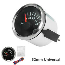 52mm Universal Stainless Steel Car Volt Meter Gauge Voltmeter 8-16 V Waterproof