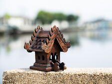 Thai Spirit House teak wood altar shrine buddha temple handmade craft buddhist