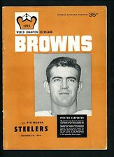 1956 Cleveland Browns Program vs Pittsburgh Steelers October 28th