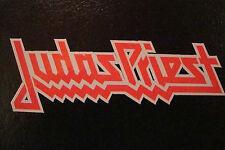 "2  JUDAS PRIEST 4.5"" DECALS/STICKERS ROCK BAND  MUSIC GUITAR MOTORBIKEHELMETS"