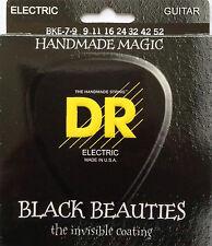 DR BKE7-9 Extra Life Black Beauties Coated Guitar Strings 9-52 7-string set