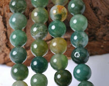30pcs Moss Agate Round Loose Beads 6MM JK0234