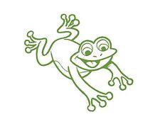 """CUTE FROG VINYL WINDOW DECAL LIME GREEN 4.5x5"""" CAR VAN FUN SMILE HAPPY TOAD"""