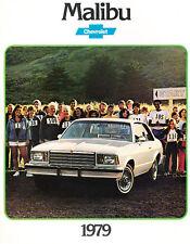 1979 Chevrolet Malibu Original V2 Sales Brochure Catalog - Chevy