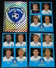 PANINI FOOT 96 CHAMOIS NIORTAIS NIORT COMPLET FOOTBALL SAISON 1995-1996