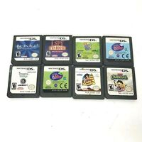 Lot Of 8 Nintendo DS Games Littlest Pet Shop Carnival Brain Age Zhi Zhu