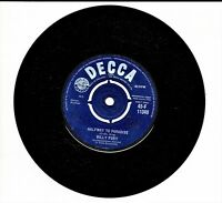 """BILLY FURY Halfway To Paradise Vintage Collectable 45rpm 7"""" Vinyl fb"""